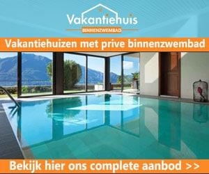 Vakantiehuizen met privé binnenzwembad banner